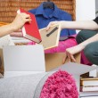 Stock Photo: Pink packing things