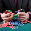 Gambler in game — Stock Photo