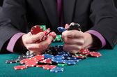 Gambler in game — Stock Photo