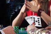 Poker game in casino — Stock Photo
