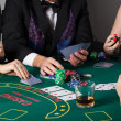 Rich people gambling in casino — Foto Stock