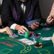 Rich people gambling in casino — 图库照片