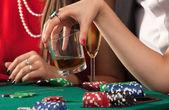 Friends enjoying a gambling — Stock Photo