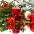 Elegant christmas decoration on mirror — Foto de Stock