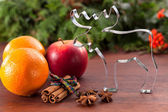 Christmas flavors and cookie cutter — Stock Photo