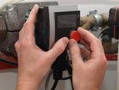 Condensing boiler control — Stockfoto
