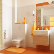 Colorful children bathroom with toilet — Stock Photo #36751347