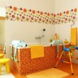 Colorful modern bathroom for children — Foto Stock