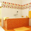 Stock Photo: Modern bathroom in orange color