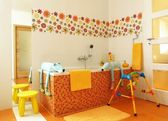 Colorful modern bathroom for children — Stock Photo