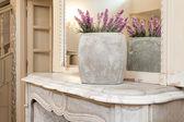 Vintage mansion - lavender vase — Stock Photo