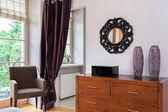 Vintage mansion - bedroom furniture — Stock Photo
