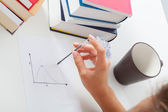 Student with math chart — Stock Photo