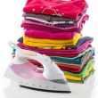 Arranged composition clothes — Stock Photo