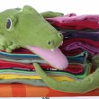 Stock Photo: Child's laundry on ironing board