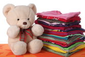 Ironed children's clothes — Stock Photo