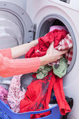 Preparing washing — Stockfoto