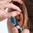 Stock Photo: Hearing check-up