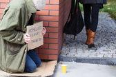 Homeless around the corner — Stock Photo