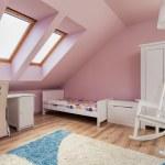 Urban apartment - pink room — Stock Photo