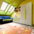 Urban apartment - colorful room — Stock Photo