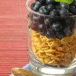 Breakfast cereal with blueberries — Stock Photo #37097435
