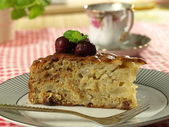 Apple cake dessert — Stock Photo