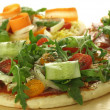 Pizzas with veggies — Stock Photo