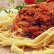 Italian spaghetti bolognese — Stock Photo