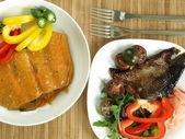 Thai and indian salmon — Stock Photo