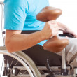 Handicapped working out — Stock Photo