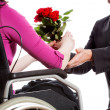 Proposing to disabled — Stock Photo