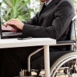 Disabled businessman working — Stock Photo #37145279