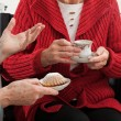 Elder women conversation — Stock Photo