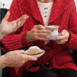 Elder women conversation — 图库照片