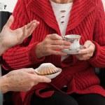Elder women conversation — Stock Photo