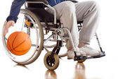 Disabled basketball player — Stock Photo