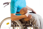 Physical activity of disabled person — Stock Photo