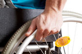 Closeup of a wheelchair — Stock Photo