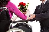 身体障害者への提案 — ストック写真
