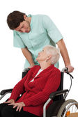 Nurse with disabled — Stock Photo
