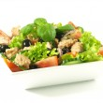 Tuna salad on isolated background — Stock Photo #37167097