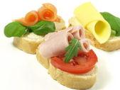 Sandwiches on isolated background — Stock Photo