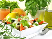 Mediterranean cuisine for breakfast — Stock Photo
