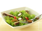 Salad with almonds — Stockfoto