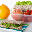 Stock Photo: Healthy lunch box