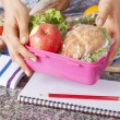 gezonde school lunch — Stockfoto #37202575