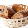 Basket with bread — Stock Photo #37202845