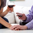 Lovers drinking wine — Stock Photo #37204003