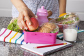 School lunchboxes — Stock Photo